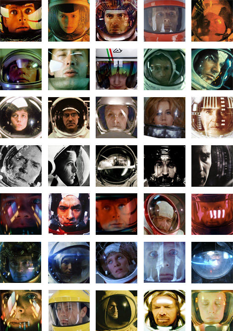Space helmet reflections