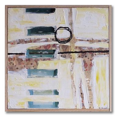 Green box, 10x10, mixed media on canvas