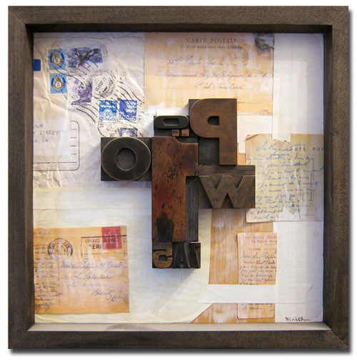 P1, 13x13, wood type assemblage & mixed media